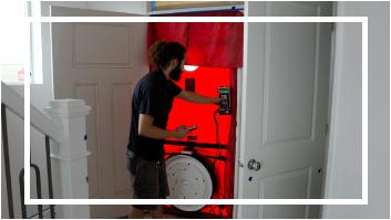 Blower Door Test by Building Science West
