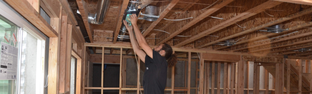 Duct Testing in Ceiling